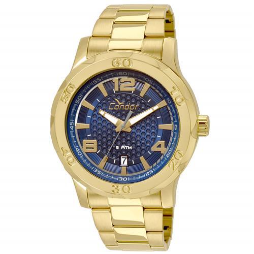 Relógio Masculino Condor Analógico CO2415BB K4A Dourado   Joias Vip d885ff869b