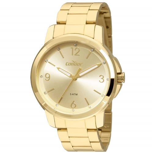 Relógio Feminino Condor Analógico COAL2035FDW K4X Dourado   Joias Vip 36090c8cc8