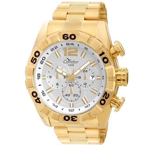Relógio Masculino Condor Analógico COVD33AA 4K Dourado   Joias Vip f25414f89d