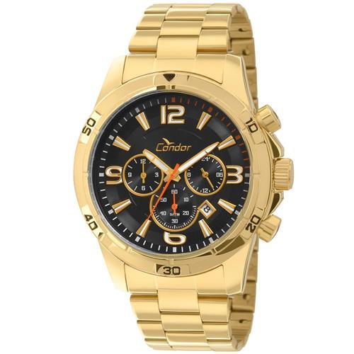Relógio Masculino Condor Analógico COVD33AE 4P Dourado   Joias Vip 6b87a75357