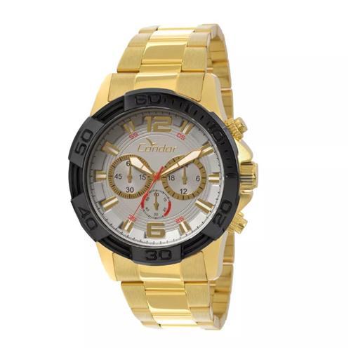 Relógio Masculino Condor Civic Analógico COVD54AA 4K Dourado   Joias Vip dc19d7eebc
