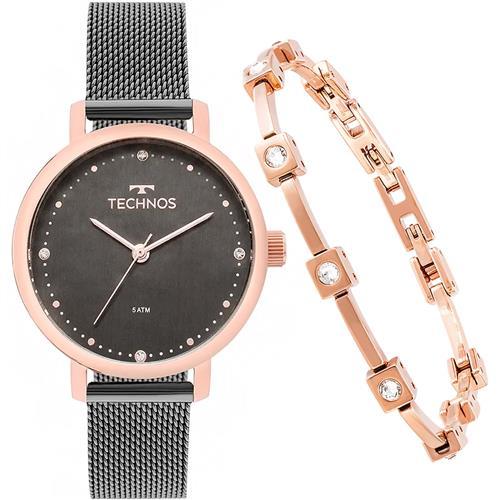 5215387f136 Relógio Feminino Technos 2035MMO K5C Acompanha Semi-joia