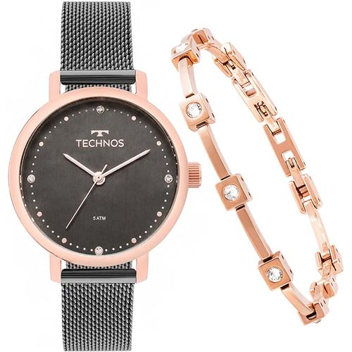 f47e333a805 Relógio Feminino Technos 2035MMO K5C Acompanha Semi-joia
