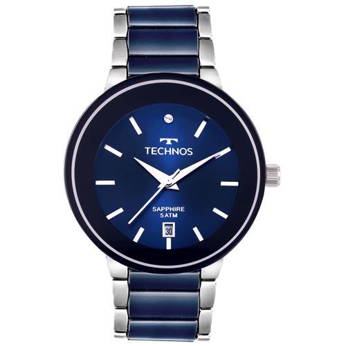 f2295931dea71 Relógio Feminino Technos Ceramic Sapphire 2115KRT 1A Azul