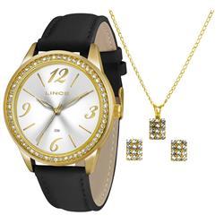 a8911da787e Relógio Feminino Lince Kit Colar e Par de Brincos A..