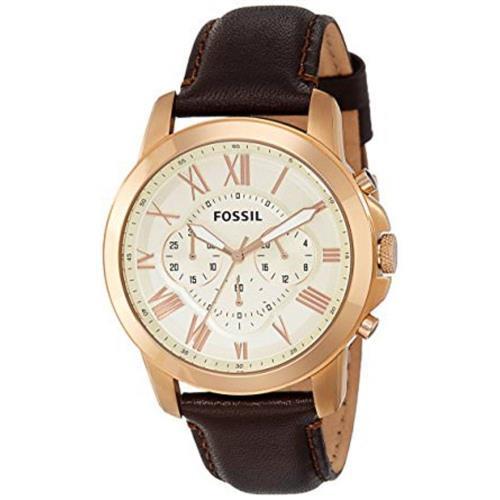 Relógio Masculino Fossil chronograph FS4991 Aço rose   Joias Vip 4892035924