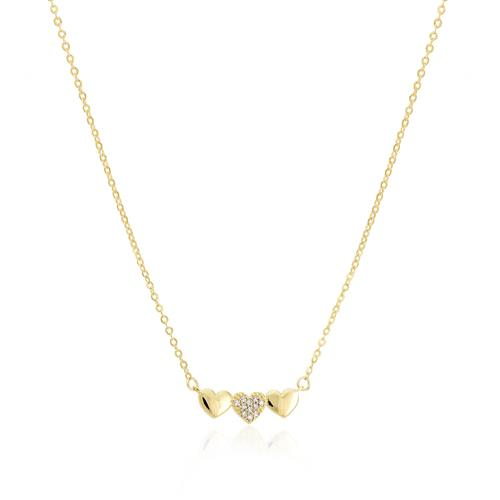 fe0acc6e2c4 Corrente Elos Ovais Corações com 11 Diamantes