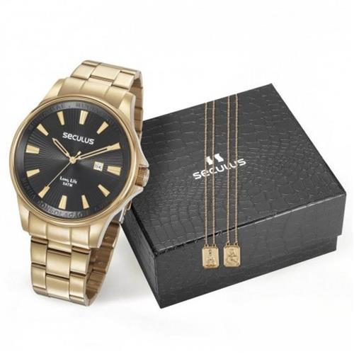 debce2e7401 Relógio Masculino Seculus 35001GPSKDA1K1 Escapulário 62519
