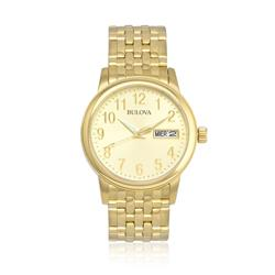 Relógio Bulova Emeritus Analógico WB21105G Champagne