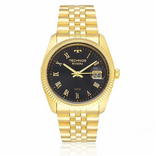 Relógio Feminino Technos Classic Riviera Analógico GM10YA 4P Dourado com  algarismos romanos a08630d478