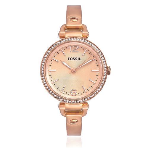 66c69ed56e197 Relógio Feminino Fossil Analógico ES3226 4TN Aço Rose