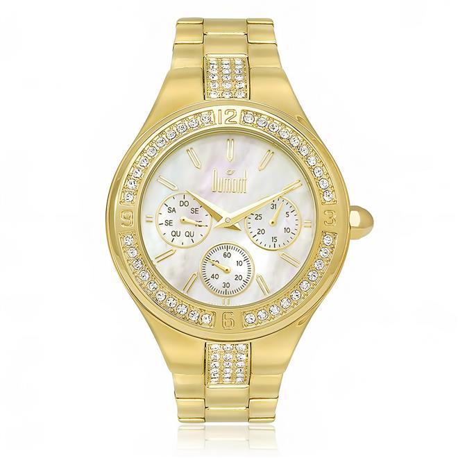 Relógio Feminino Dumont Analógico DUVD75AA 4B Dourado 18ad841829