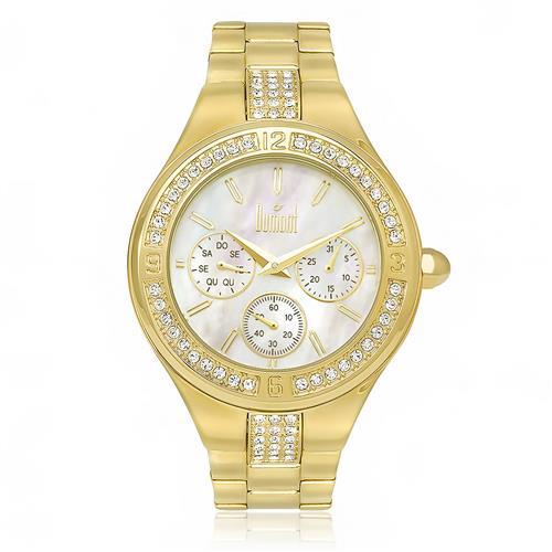 7550c3683b0 Relógio Feminino Dumont Analógico DUVD75AA 4B Dourado