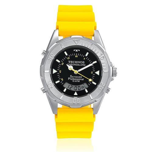 a6f1d9d82d3da Relógio Masculino Technos Performance Skydiver ANA-DIGI T20562 8Y Borracha