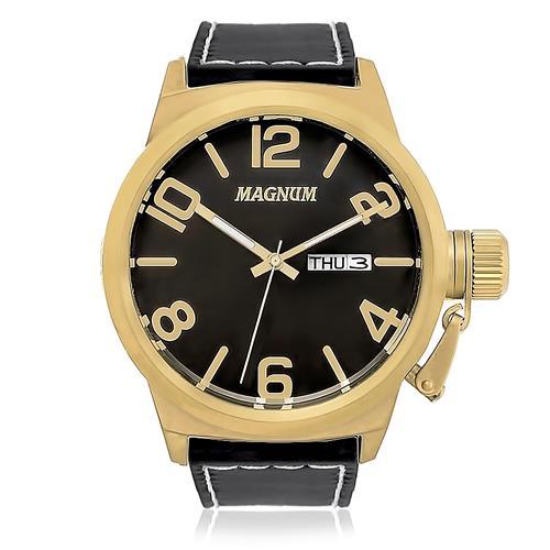 bb0c1f0160cc3 Relógio Masculino Magnum Analógico MA33406P Caixa Dourada