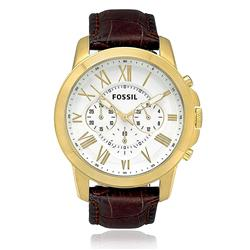 Relógio Masculino Fossil  Analógico FFS4767/Z Couro Marrom