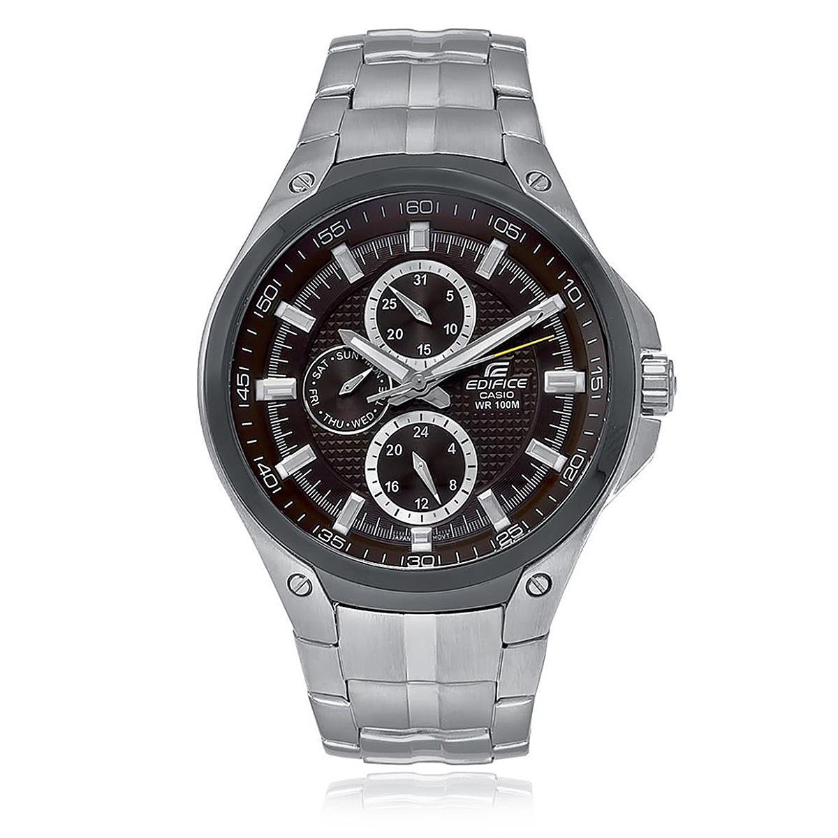 6d77e5be1f1 Relógio Masculino Casio Edifice Analógico EF-326SD-5AVUDF Fundo Marrom