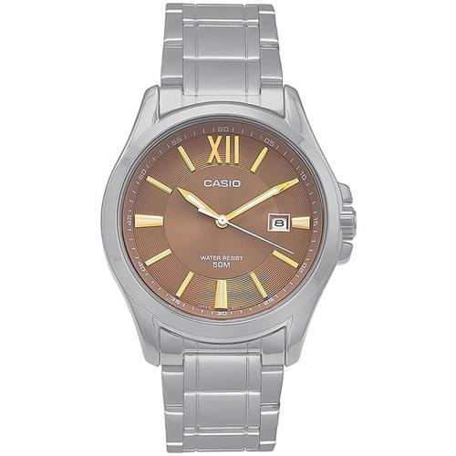 650513c3d86 Relógio Masculino Casio Analógico MTP-E103ZD-5AVDF Fundo bronze