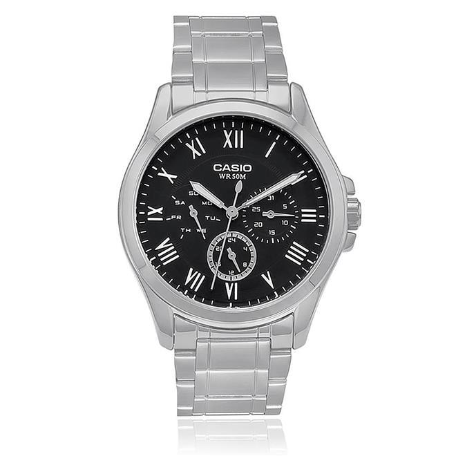 d6d2cef18e9 Relógio Masculino Casio Analógico MTP-E301ZD-1BVDF Fundo Preto. Ampliar