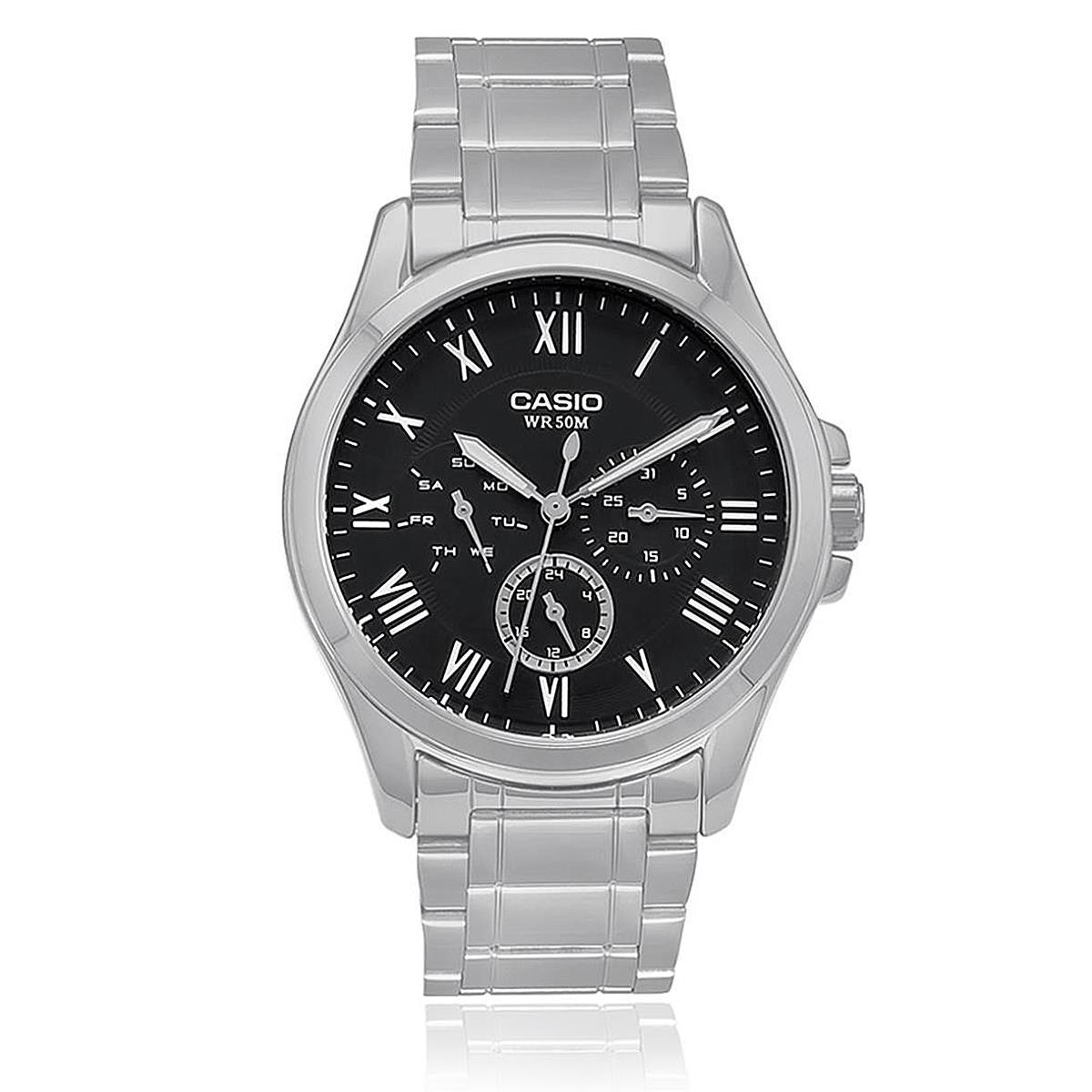 f8b9c1f80cf9 Relógio Masculino Casio Analógico MTP-E301ZD-1BVDF Fundo Preto