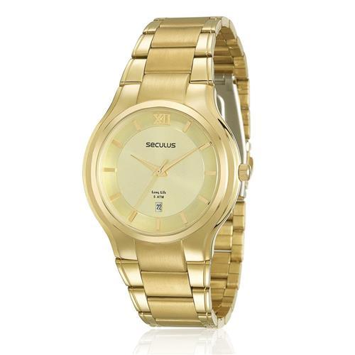 4bb8487927b Relógio Feminino Seculus Analógico 20307GPSVDA2 dourado