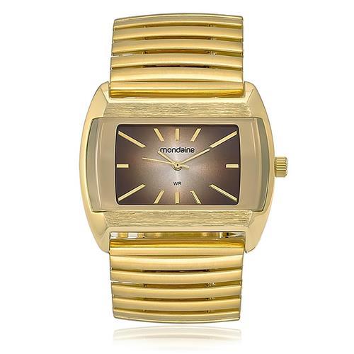 9517cf5cac5b0 Relógio Feminino Mondaine Analógico 83208LPMVDE1 dourado com pulseira  elástica