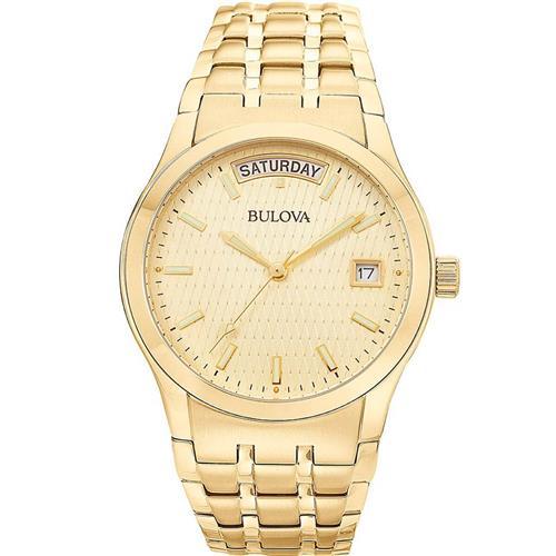 bce992e767d Relógio Masculino Bulova Analógico WB21007G Dourado