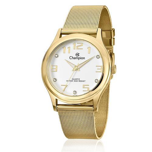 7b1ff857b94 Relógio Feminino Champion Analógico CN29007H Dourado