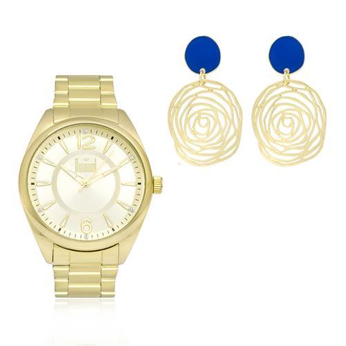 ca830a6047e26 Relógio Feminino Dumont Analógico DU2035LPF K4D Dourado