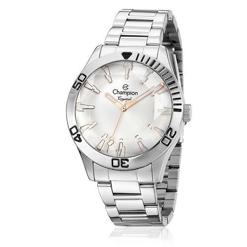 433327ad2b2 Relógio Feminino Champion Crystal Analógico CN27214Q Aço