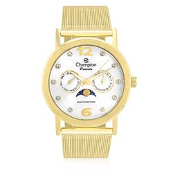 947d28fd5f0 Kit Relógio Champion Analógico CH25838W Feminino - Dourado