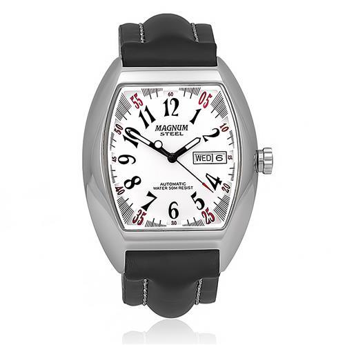 Relógio Masculino Magnum Steel Automático MA20910Q Maquinário Aparente