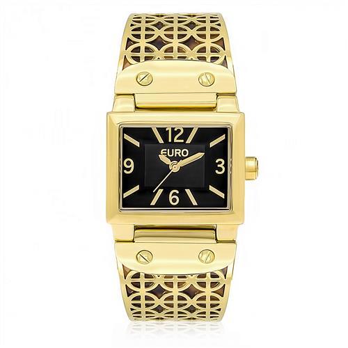 e6d65ce7a0f Relógio Feminino Euro Analógico EU2035YAB 4M Dourado fundo Marrom