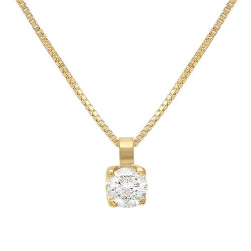 78e027562d6c6 Pingente ponto de Luz de Ouro com Diamante de 10 Pts