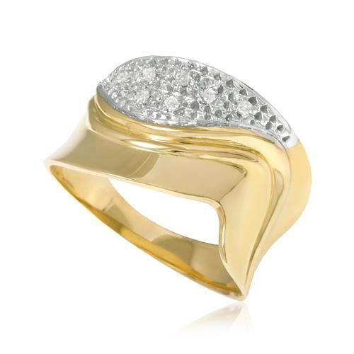 Anel com 7 Diamantes, em Ouro Amarelo