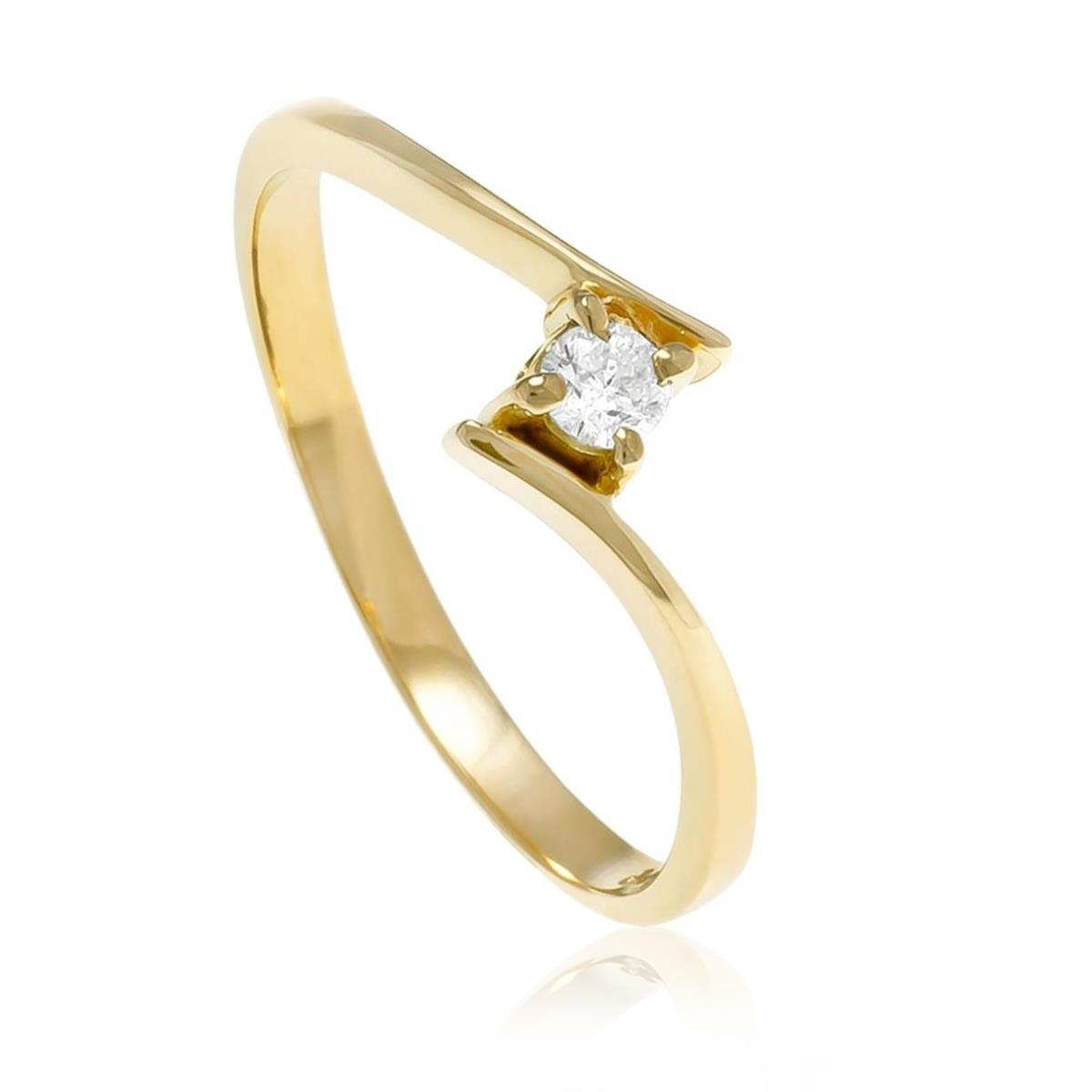 86eeccabf1a53 Anel de Ouro Solitário Cartier com Diamante de 10 Pts