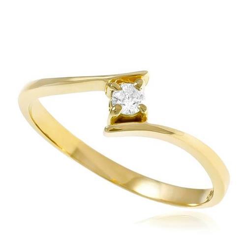 8668a6c8509 Anel de Ouro Solitário Cartier com Diamante de 10 Pts