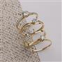 Anel Solitário com Diamante Central de 20 Pts e 5 Diamantes Laterais¸ em Ouro Amarelo