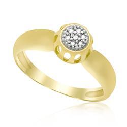 Anel Chuveiro com 7 Diamante, Acabamento Polido