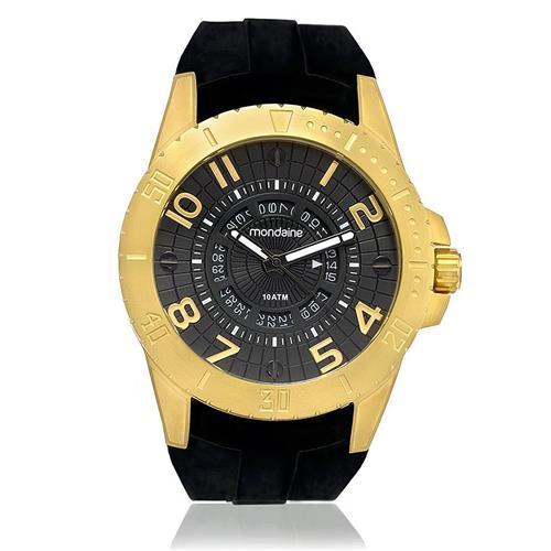 97f4b1ed7f4 Relógio Masculino Mondaine Analógico 78609GPMVDU1 dourado borracha  siliconada
