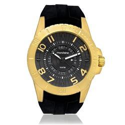 Relógio Masculino Mondaine Analógico 78609GPMVDU1 dourado borracha siliconada