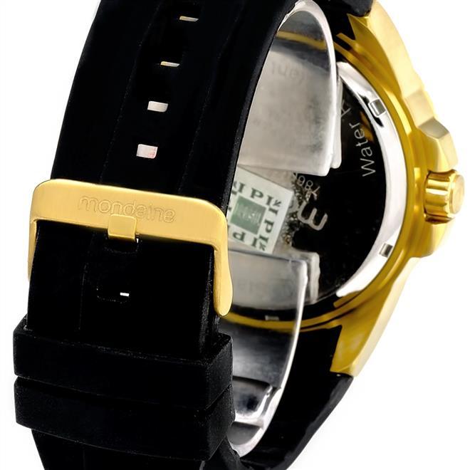 18a2fba6411 Ampliar. Relógio Masculino Mondaine Analógico 78609GPMVDU1 dourado borracha  siliconada ...