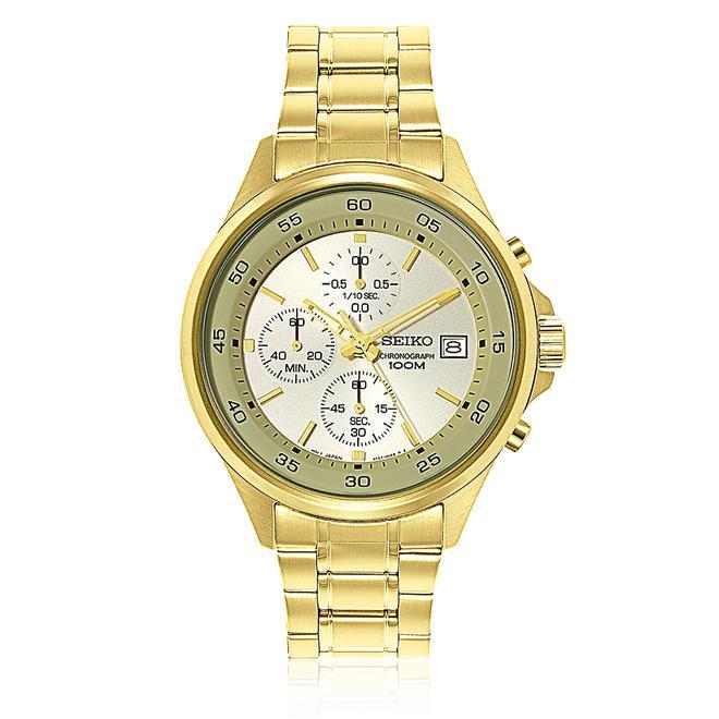 24edad8c302 Relógio Masculino Seiko Chronograph Analógico SKS482 Dourado