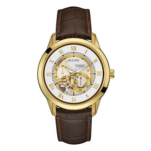 9f9ef2a6ba5 Relógio Masculino Bulova Automatic 21 Jewels Analógico WB21874B Marrom