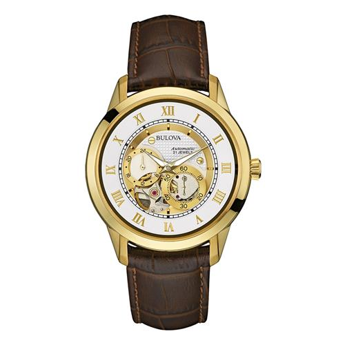755c7071d29 Relógio Masculino Bulova Automatic 21 Jewels Analógico WB21874B Marrom
