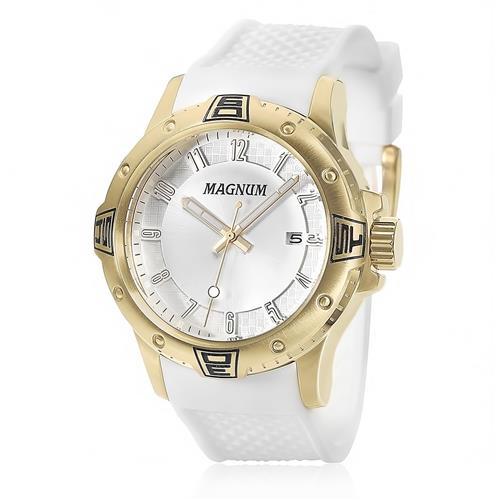 3c2f4be5cc0 Relógio Masculino Magnum Analógico MA34414B Borracha Branca