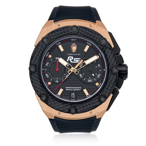 40284d9754d Relógio Masculino Constantim RS Chronograph Rose - Limited Edition  Analógico RS-R Borracha Preta