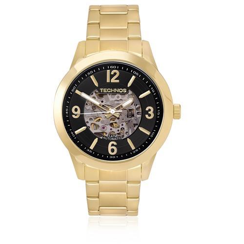 0979f6c6ae1 Relógio Masculino Technos Esqueleto 8N24AG 4P Fundo Preto