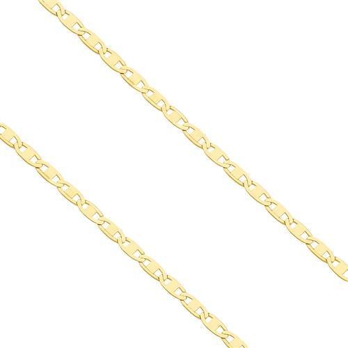 Corrente Feminina Malha Piastrine, em Ouro Amarelo