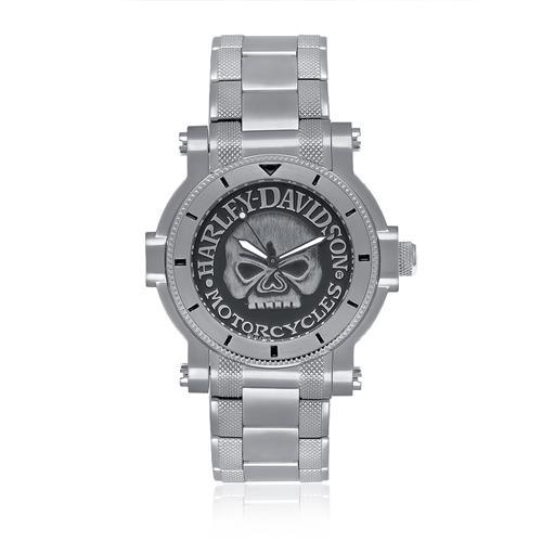 898dd25d97f Relógio Masculino Bulova Harley Davidson Analógico WH30331Q Caveira